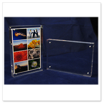 magnetic acrylic photo frames