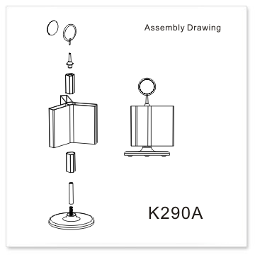DL rotating brochure holders-K290A