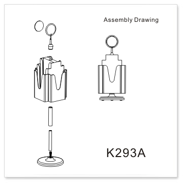 DL rotating brochure holders-K293A