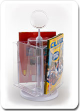 Rotating-brochure-holder