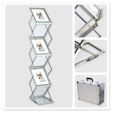 A4 brochure stand literature holders brochure rack, portable brochure ...