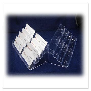 Acrylic business holders acrylic brochure holdersacrylic 8 pocket business card holders bz004 colourmoves