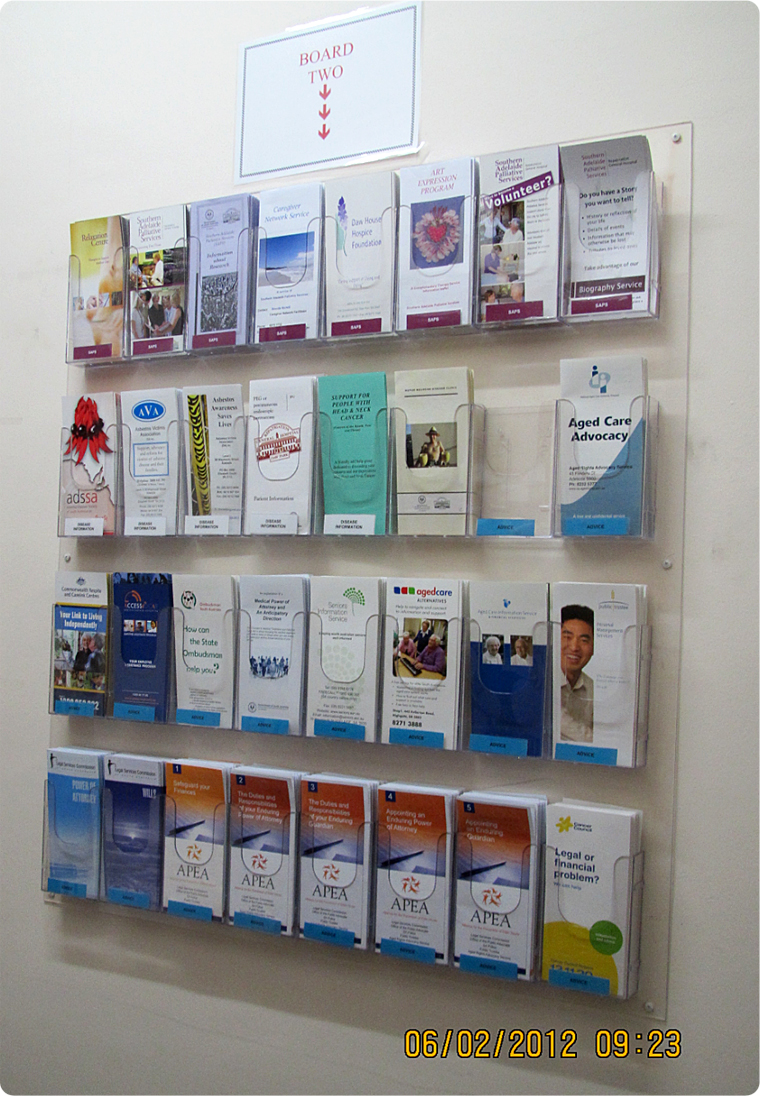 display stands brochures