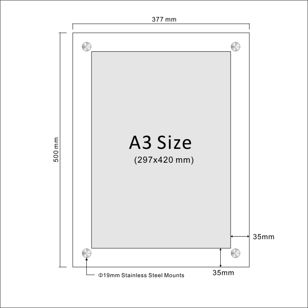 Clear Acrylic Sandwich Sign Holders Perspex Sign Holders